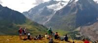 Enjoying the views of the Mont Blanc Massif and the Miage Glacier | Ryan Graham