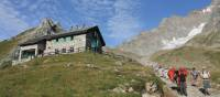 Group descending from Elisabetta refuge on the Italian side of Mont Blanc | Jac Lofts