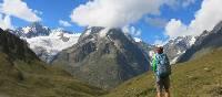 Views of Freney Pillar on the Tour du Mont Blanc | Sarah Hunt