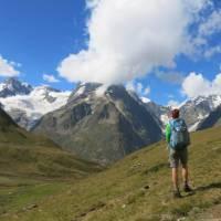 Views of Freney Pillar on the Tour du Mont Blanc   Sarah Hunt