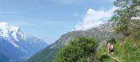 Trekking mountain side trails as we explore the Alps | Erin Williams