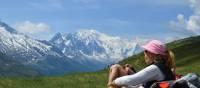 Enjoying the stunning scenery as we trek towards Mont Blanc | Erin Williams