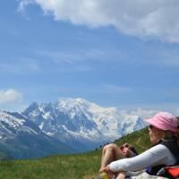 Enjoying the stunning scenery as we trek towards Mont Blanc   Erin Williams