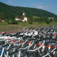 Bikes aboard the boat on the Danube   Kate Baker