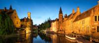 Beautiful Bruges at sunset