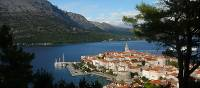 The beautiful old town of Korcula in the Dalmatian Islands