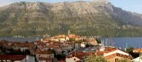View of Korcula Island on Croatia's Dalmatian Coast