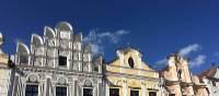 A beautiful 'sgraffito' façade in Telc | Els van Veelen