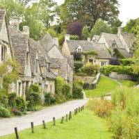The charming village of Bilbury in the Cotswolds