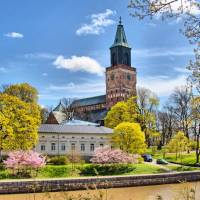 The Turku Cathedral by the Aurajoki river   Timo Oksanen