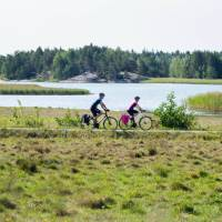 Natural landscapes are a feature as you cycle the coastal route in Finland