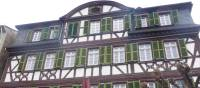 A pretty timbered building in Kaub on the Rhine