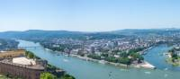 Panoramic view of the city of Koblenz