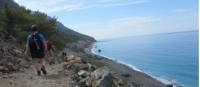 Walking along the Ag Roumeli coast on Crete