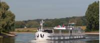 Fluvius Barge used on our Amsterdam to Bruges bike and boat holidays