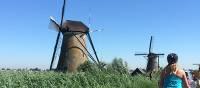 Cycling near the Kinderdijk windmills | Vicki Wasilewska Fletcher
