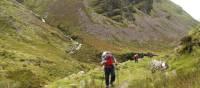 Walking above Lake Anscaul on the Dingle Peninsula | richardtulloch.wordpress.com