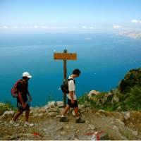 Walkers taking in the views on the Amalfi Coast   Sue Badyari