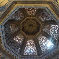 The ceiling of Monserrate Palace, a palatial villa near the fairytale village of Sintra