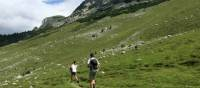 Hiking beneath the rocky summits of the Bucegi Mountains in Transylvania | Kate Baker