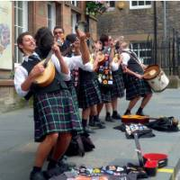 Musicians in traditional Kilts in Scotland