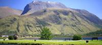Stunning view of Ben Nevis from the sea basin of the Caledonian Canal