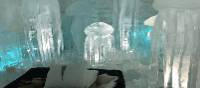 Art suite in the permanent Ice Hotel | Kate Baker