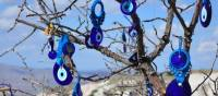 A tree full of evil-eye charms | Erin Williams