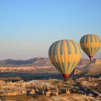 Balloons taking off in Cappadocia   Erin Williams