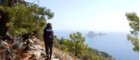Taking in the view from Cape Gelidonia on the Lycian Way in Turkey |  <i>Lilly Donkers</i>