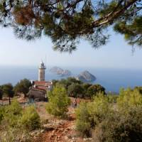 Cape Gelidonia lighthouse and the 'Five Islands' on Turkey's Lycian Way   Lilly Donkers