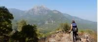 Hiker looking at Mt Olympos on the Lycian Way |  <i>Lilly Donkers</i>