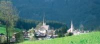 The town of Gosau, Austria