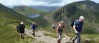Ascending St. Sunday Crag from Grisedale Beck