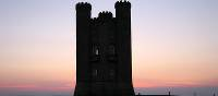 Broadway Tower on the ridgetop of the Cotswold escarpment, England