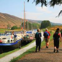 Strolling by the Caledonian Canal, Scotland