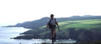 Walking on the Cornish coast