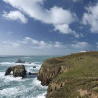 The stunning Cornish coastline at Lands End