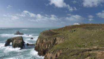 The stunning Cornish coastline at Lands End