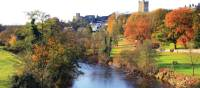 Richmond castle and The River Swale
