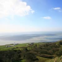 Beautiful views towards St. Catherine's Point