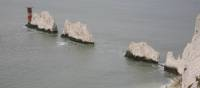 Rock formation of The Needles, Isle of Wight