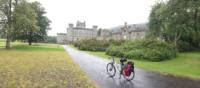 Taking a break at Castle Menzies | Scottish Highlands Cycle