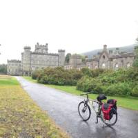 Taking a break at Castle Menzies   Scottish Highlands Cycle