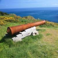 A cannon overlooking Petit Derrible Bay | John Millen