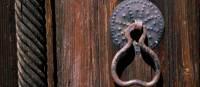 Church door handle near Pafos