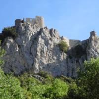 Looking towards Chateau Peyrepertuse