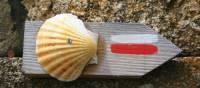 Way of St.James Way traditional Scallop waymark