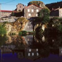 Reflections of a small  'hameau' on the way