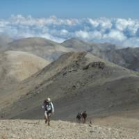 Walking in the rugged 'White Mountains'